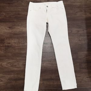 American Eagle Mid-Rise White Jeans